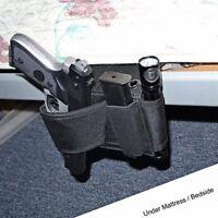 Car Seat Pistol Holder Handgun Holster Under Mattress Bedside Gun Case Cover Kit