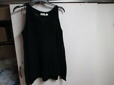"""RETROD"" WOMENS COLD SHOULDER KNIT SWEATER (XS) BLACK VERY WARM"