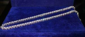 Platinum Diamond Jewellers 7mm Tennis Chain Necklace 150ct Lab Simulated Diamond
