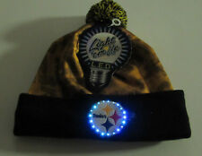 NEW Pittsburgh Steelers NFL LED Light up Hat 2017 Winter Pom Beanie Stocking Cap