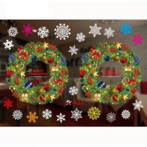 Christmas Santa Removable Window Stickers Art Wall Decal🔥XmasHome Shop Decorati