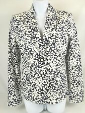 C Wonder Ladies Lined Blazer Jacket Navy Blue White Summer Floral Size 6 New