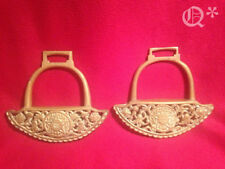 1856 Engraved Brass Horse Riding Stirrups