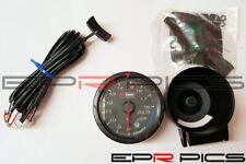 D1 Spec 60mm JDM Stepper Motored Black Face Voltage Gauge