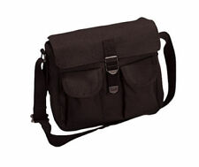 Heavyweight Black Cotton Canvas Ammo Shoulder Carry Bag 2278 Rothco