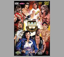 WWE Wrestling All-Time Legends POSTER - Bret Hart, Ricky Steamboat, DiBiase, +++
