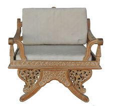 fauteuil de dignitaire chinois en chêne patiné
