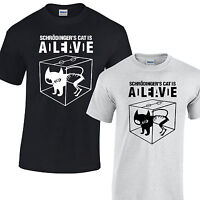 Schrodingers Cat T-Shirt Mens Dead or alive big bang theory sheldon cooper