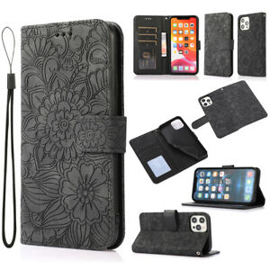 For iphone 12 Mini 12 11 Pro Max XR XS Max Case Flower Wallet Flip Leather Cover