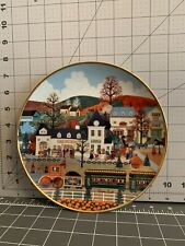 """Sweet Apple Junction� Collectors Plate By Wooster Scott Limoges Edition"