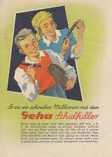 Stundenplan Geha-Schulfüller 1950/60er Jahre Zustand 0-1 RAR