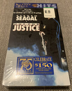 Steven Seagal Is Out For Justice (VHS 1991) Tape New Sealed Oop