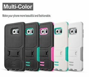 For Samsung Galaxy S6 Case,  Rugged Impact Armor Hybrid with Kickstand