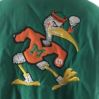 Miami Hurricanes XL Jacket Swingster Since 1946 Full Zip  Pull Over Vintage USA