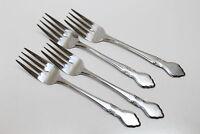 4 Vintage Northland Musette Pattern Stainless Steel Flatware Salad Forks