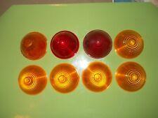 NOS LOT (8) Signal-Stat 10M Amber & RED Plastic Marker Light Lamp Lens LS301