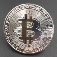 Silver Plated Iron Art Collectible Gift Coin Virtual Money Bitcoin Souvenir  JR