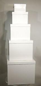 Geschenkkarton-Satz 5-tlg.,  Schachteln 15 - 35cm, Stülpdeckel  - Kartonsatz