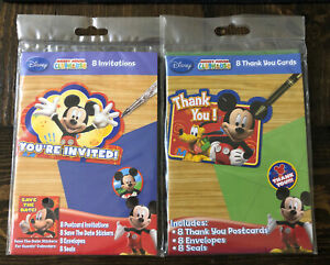 Disney Mickey Mouse Clubhouse BIRTHDAY PARTY INVITATIONS 8 count & 6 Thank You