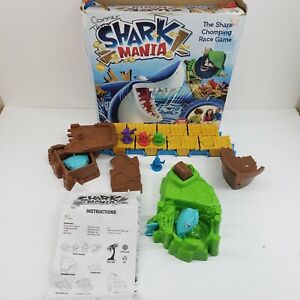 SHARK MANIA Game Replacement Pieces Parts SHARK ISLAND W/ Pull String Fin - READ