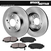 Front 262 mm Brake Disc Rotors And Ceramic Pads For 2012 HONDA CIVIC EX DX LX