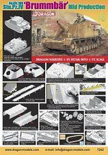 Dragon 7242 1/72 Plastic WWII German BRUMMBAR MID-PRODUCTION