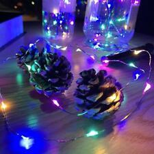 Rechargeable USB LED Bottle Cork Wire Fairy String Lights U2K1