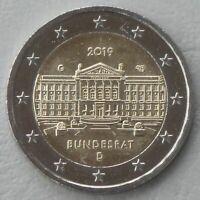 2 Euro Deutschland G 2019 70 Jahre Bundesrat unz.
