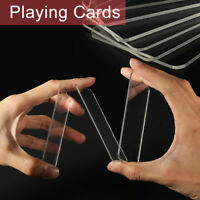 Trainer Deck Clear Playing Cards Close-Up Magic Tricks Acrylic Pre Sale Feb  @