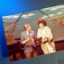 BIRGIT NILSSON with Dick Cavett Television Performance PHOTOGRAPH Opera Diva