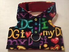"""I Love My Dog"" Harness Vest Dog - XXS (551-554)"