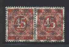 Germany 1948 45pf Numeral pair w/ double Posthorn overprint, 1 is Inverted Vf Nh