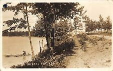 Portage Lake Michigan 1910 RPPC Real Photo Postcard Manistee County