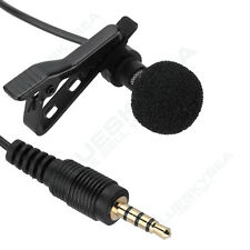 "Jack 3.5mm 1/8"" TRS Clip on Lapel Lavalier Microphone Handsfree For Laptop Phone"