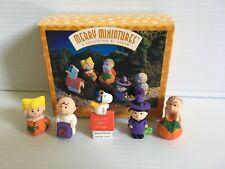 Vintage Hallmark Merry Miniatures Peanuts Pumpkin Patch 5 Piece Set Snoopy Linus