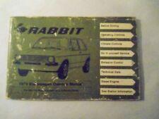 Volkswagen Rabbit Diesel Owner's Manual - 1979