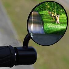 "Black Motorcycle Handlebar 7/8"" Bar End Side Mirrors Motorbike For Triumph Honda"