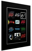 MOUNTED / FRAMED PRINT DAFT PUNK DISCOGRAPHY - DIFFERENT SIZES  POSTER GIFT ART