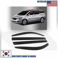SMOKED DOOR WINDOW VENT VISOR DEFLECTOR (D009) for KIA SEDONA 2015-2016-2017