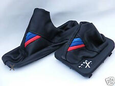 FITS BMW E46 M3 AUTOMATIC GEAR  + HANDBRAKE BOOT LEATHER