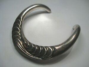 "Vintage JONDELL Ster Silver 925 Modernist Thick Choker Necklace 117g 15"", 3"" Gap"