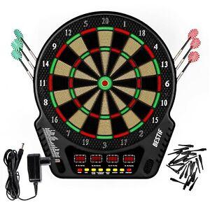 Elektronische Dartscheibe Dartboard 6 Pfeile Dartspiel Kinder Erwachsene Dart