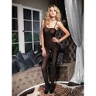 Bodystocking Aperta tuta SEXY Hot catsuit Lingerie intimo donna opaque black