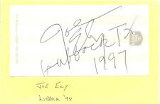Joe Ely + Kenny Maines (The Maines Brothers Band) signed autograph page Clash