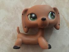 Littlest Pet Shop RARE Dachshund Dog Puppy No # Polka Dots Monopoly Black LPS