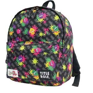 Splatoon 2 kids Backpack School Bags Black Paint pattern NEW From Japan F/S
