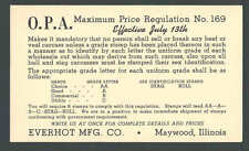 1942 Everhot Mfg Co Maywood IL Supplies ID Stamps For Beef Veal Stags See Info