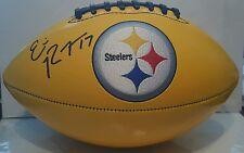 Eli Rogers Signed Steelers Logo Gold Football  TSE ITP COA