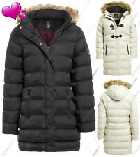 NEW Plus Size 18 20 22 24 Womens Faux Fur PADDED Ladies JACKET Puffa PARKA COAT