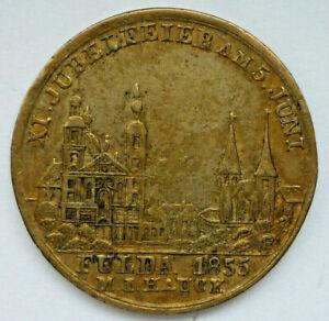 Bronze Medaille, Städte Medaille 1855 Stadt Fulda                    (Art.5104)